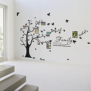 amazon com family tree birdwall sticker wall decor amazon forest clock wall stickers