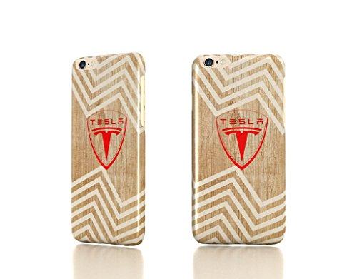 "Apple Iphone 6 Plus 5.5"" Case - The Best 3D Full Wrap Iphone Case - Tesla Motors Logo Electric Cars Wood Chevron Geometric"