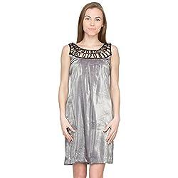 Species Women's A-line Dress (S-388_Grey Foil_X-Large)