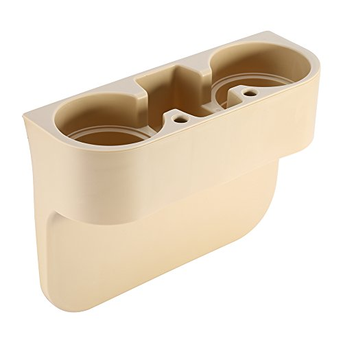 Yosoo Vehicle Drink Cup Holder,Truck Car Seat Wedge Cup Holder Valet Beverage Can Bottle Cell Phone Stand Storage Box (Beige) (Cup Holder Truck compare prices)