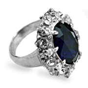 A Dark Engagement Alchemy Gothic Blue Crystal Ring