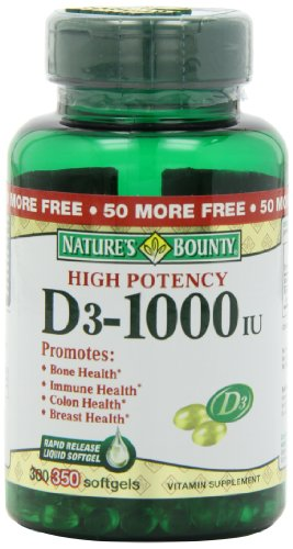 Nature'S Bounty Vitamin D3 - 1000 Iu , 350 Softgels