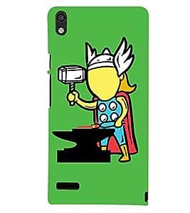 PRINTSHOPPII FUNNY THOR Back Case Cover for Huawei Ascend P6::Huawei P6::Huawei Ascend P6 Dual