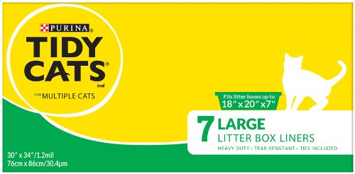 Tidy Cat Accessories Large Litter Box Liners 7count - Box, Fits up to 18in x 20in x 7in