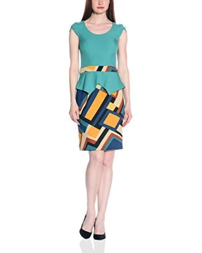 Maiocci Vestido Turquesa / Multicolor