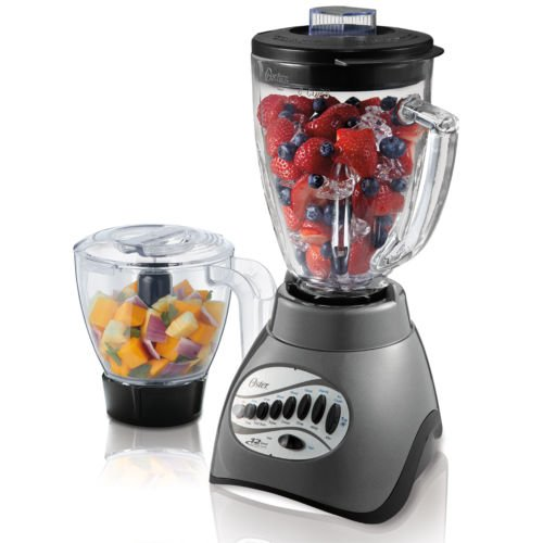 Oster Blstcc-gfp-np1 12-speed Blender W/food Processor Attachment - Metalic G Kitchen Appliances