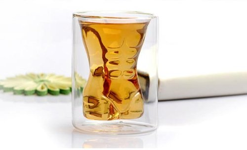 200ml Men Naked Wine Whiskey Beverage Glass TGIF!