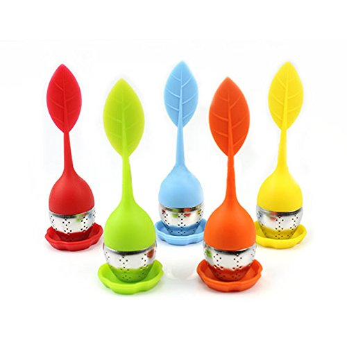 seguryy-silicone-stainless-leaf-tea-strainer-teaspoon-infuser-ball-spice-filter
