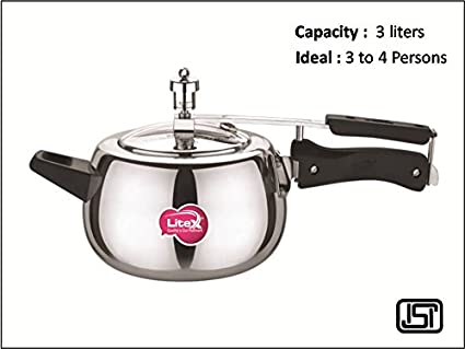 Litex Flr3 Aluminium 3 L Pressure Cooker (Induction Bottom,Inner Lid)