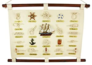 Knot Chart Sailor's Nautical Wall Hanging Beach Sailing Collection