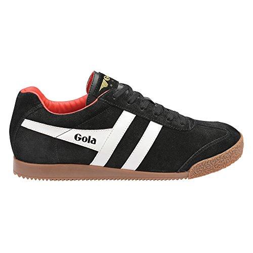 Gola Men's Harrier Fashion Sneaker, Black/White/Red, 42 EU/9 M US