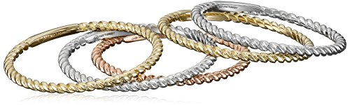 14k-Gold-1mm-Rope-Band-5-Piece-Stackable-Ring-Set-Size-7