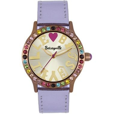 Betseyville® Happy Rainbow Stone Bronze Face Watch