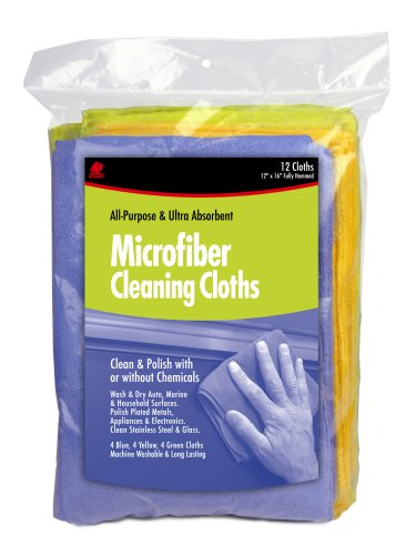 Buffalo Industries 12-Pack Microfiber Cleaning Cloths