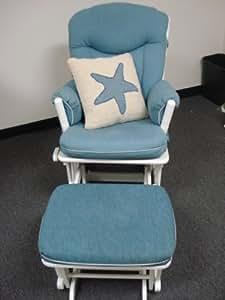 Amazon.com: Rocker Glider Rocking Chair and Ottoman: Kitchen & Dining