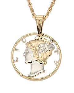 united states mercury dime pendant
