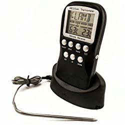 Wireless Remote Control BBQ Meat Thermometer Barbecue Kitchen Digital Food Thermometer