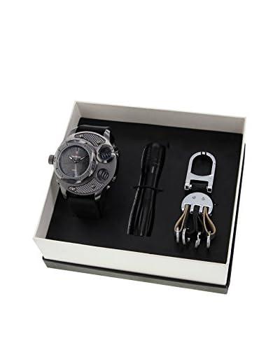 GINO MILANO Reloj de cuarzo + Linterna + Llavero MWF14/053G 55 mm