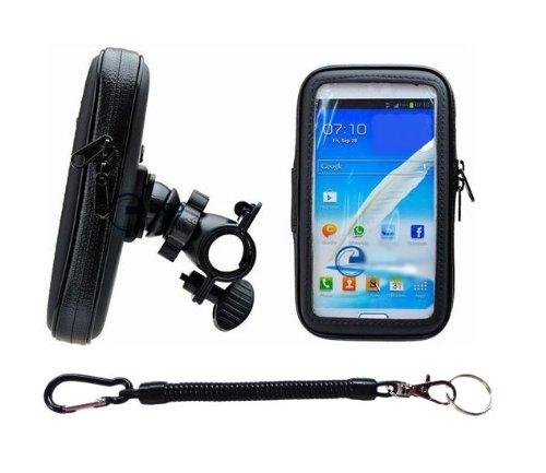 ナビ スマホ GPS 5インチ 防水マウントキット 脱落防止コード付き