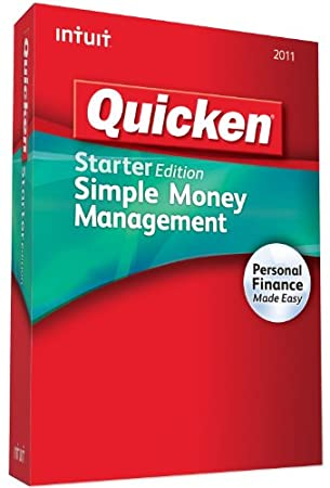 Quicken Starter Edition 2011 - [Old Version]