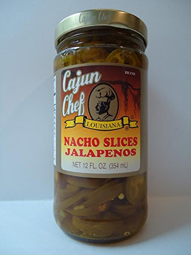Cajun Chef Peppers, Jalapeno, Sliced, 12-Ounce (Pack of 6) (Cajun Chef Jalapeno compare prices)