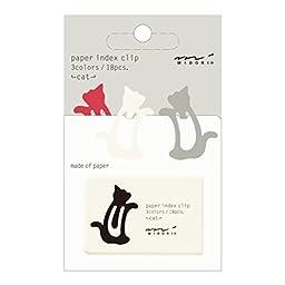 Midori Index Clip, Cat, 3 Color Assorted (43235006)