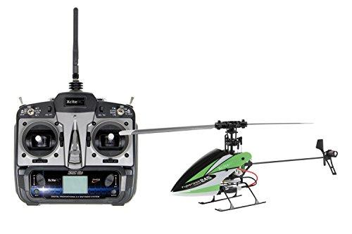 13001120 Ferngesteuerter RC Hubschrauber Flybarless 245 Trainer RTF 2.4 GHz 4 mit 6S Profi 6 Kanal Sender grün weiß
