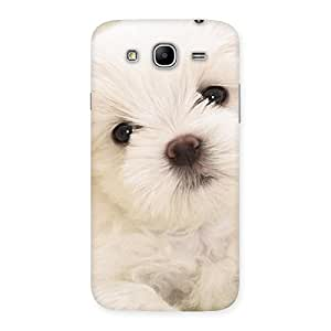 Cute Cute Pup White Back Case Cover for Galaxy Mega 5.8