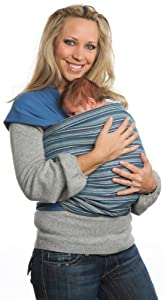 Moby Wrap Moby D Woven Baby Carrier, Indigo Stripe