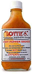 Lottie's Traditional Barbados Hot Sauce (Yellow) 6 oz.