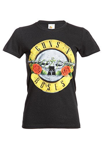 Licensed Womens Guns N Roses Logo T-shirt - S to XL