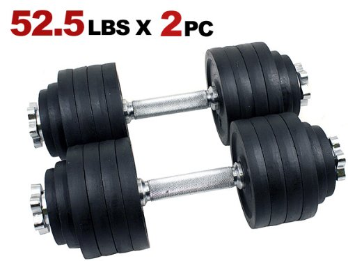 105lbs adjustable dumbbell set - One Pair of Adjustable Dumbbells Kits - 105 Lbs (52.5lbs X 2pc)