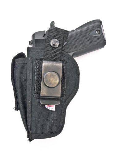 Outbags OB-29SC (RIGHT) Nylon OWB Belt Gun Holster with Mag Pouch for Ruger SR22, Bersa Thunder UC, Beretta 9000 / PX4 Storm Compact, Cobra Patriot 45 ACP, RIA 1911 Compact, Rock Island 1911 Compact, Walther P99 Compact, and More