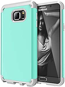 Note 5 case, Galaxy Note 5 Defender Case, SGM (TM) Premium Hybrid [Dual Layer] Armor Case Cover For Samsung Galaxy Note 5 [Shock Proof] (Mint + Gray)