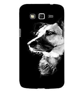 EPICCASE B/w dog Mobile Back Case Cover For Samsung Galaxy Grand (Designer Case)