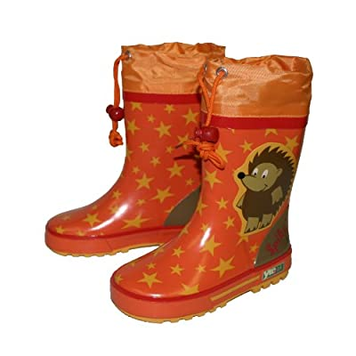 Yeominis Hedgehog Star Wellies Orange