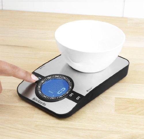 Brabantia 470807 Balance de Cuisine Digital Profile Rectangulaire Matt Steel