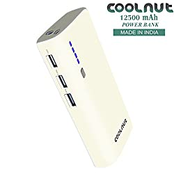 COOLNUT Best Power Bank 12500mAh 3 USB Output Port For Smartphones & Androids