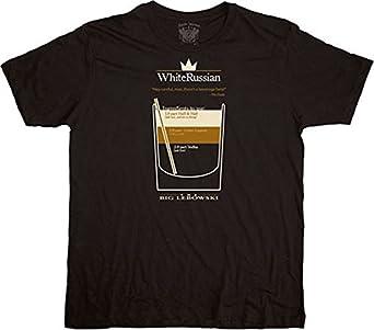 The Big Lebowski White Russian Black T-shirt Tee (Small)