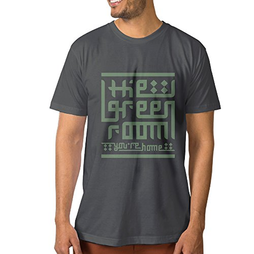 DETED Jersey T-Shirt - Green Room Logo For Men's SizeXXL DeepHeather