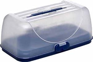 EMSA 503941 Kuchenbutler SUPERLINE Partybox BASIC, blau, 35 x 18 cm (gefriergeeignet, Made in Germany)