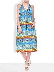 Yash Gallery Women's Dress (Blue)