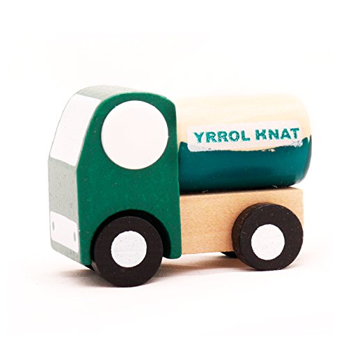 Mini Wooden Car Tank Lorry,T00077 - 1