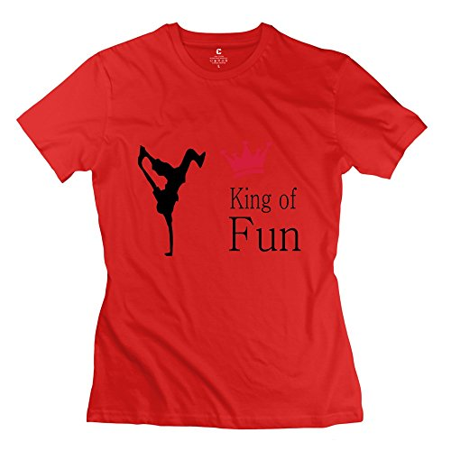 Tgrj Women'S Tshirts - Cool King Funny Tee Red Size M