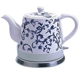 FixtureDisplays Ceramic Electric Kettle Water Boiler Tea Maker15001 15001-FBA