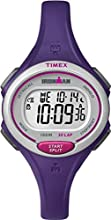 Timex Ironman Women's Quartz Watch with LCD Dial Digital Display and Purple Resin Strap - TW5K90100