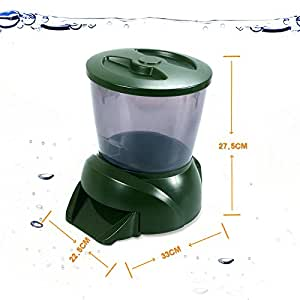 Automatic fish pond food feeder holiday koi for Fish feeder for pond