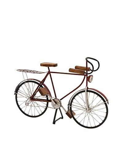 Metal and Wood Bicycle Statue