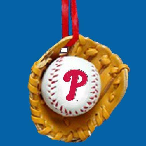 Kurt Adler Phillies Baseball in Glove Christmas Ornament