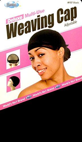 Dream Deluxe Multi Use Weaving Cap Black #0157 (Adjustable Wig Cap compare prices)